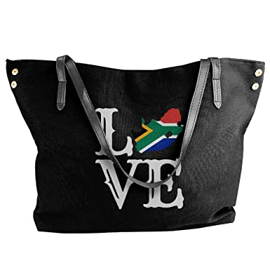 9967153a4d95 Women s Love South Africa-1 Canvas Shoulder Bag Handbags Tote Bag Casual  Travel Bags