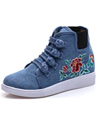 Tianrui Crown Women And Ladies Chinese Embroidery Platform Casual Sneaker Flat Shoe