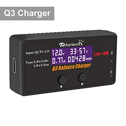 Amazon.com: Q3 LiPo cargador de equilibrio de batería de 18 ...