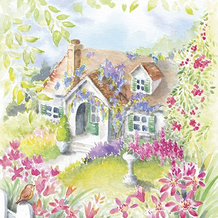 ns House in the Country Decoupage 40pcs ()