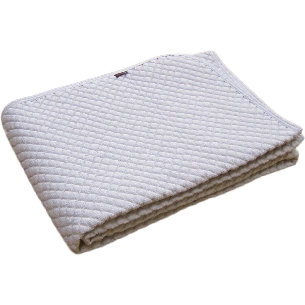 綿100% ポコポコ敷きパッド ダブル 145×205cm 日本製 スマイル敷きパッド ブルー B07SJ3V1KF ブルー