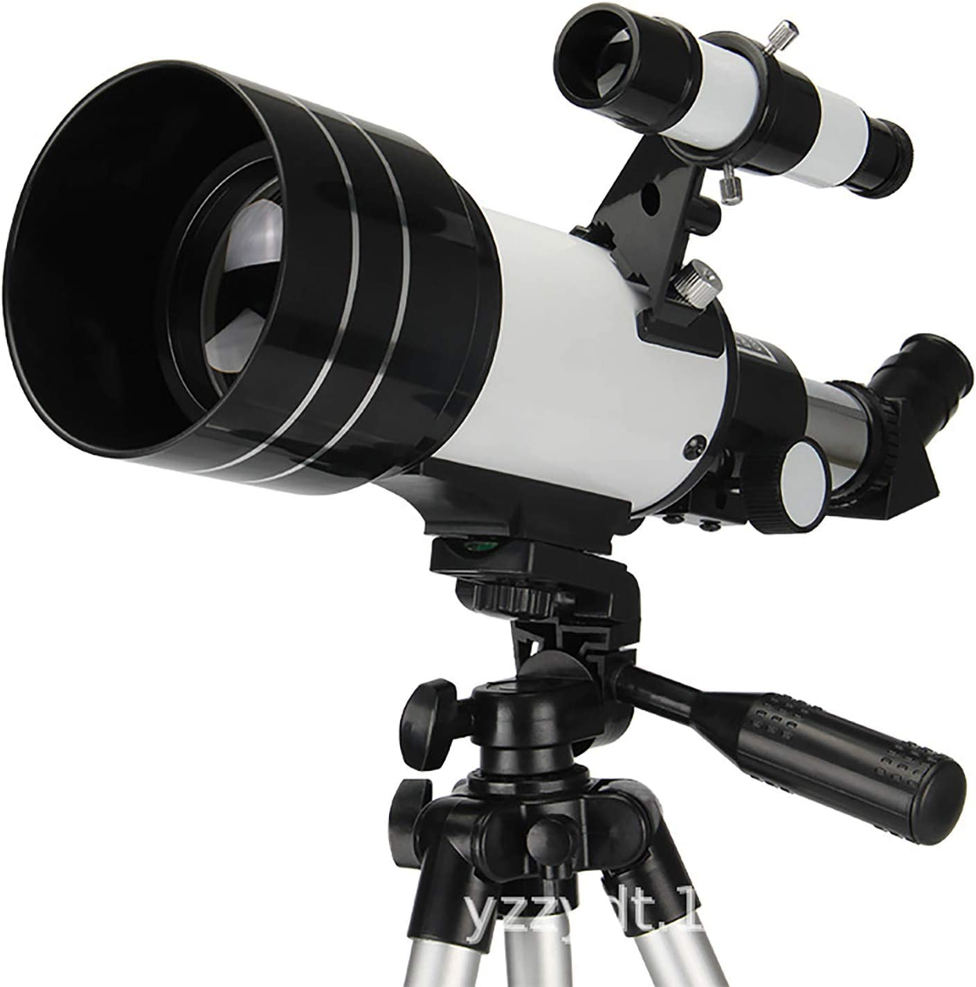 GUbaliYA Astronomy Telescope for Kids Adults and Beginners,70mm Aperture 400mm AZ Astronomical Refractor Travel Telescope with Tripod and Phone Adapter to Observe Moon and Planet (White)