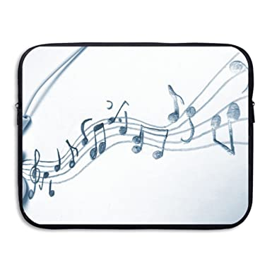 Amazoncom Business Briefcase Sleeve Microphone And Music Notes