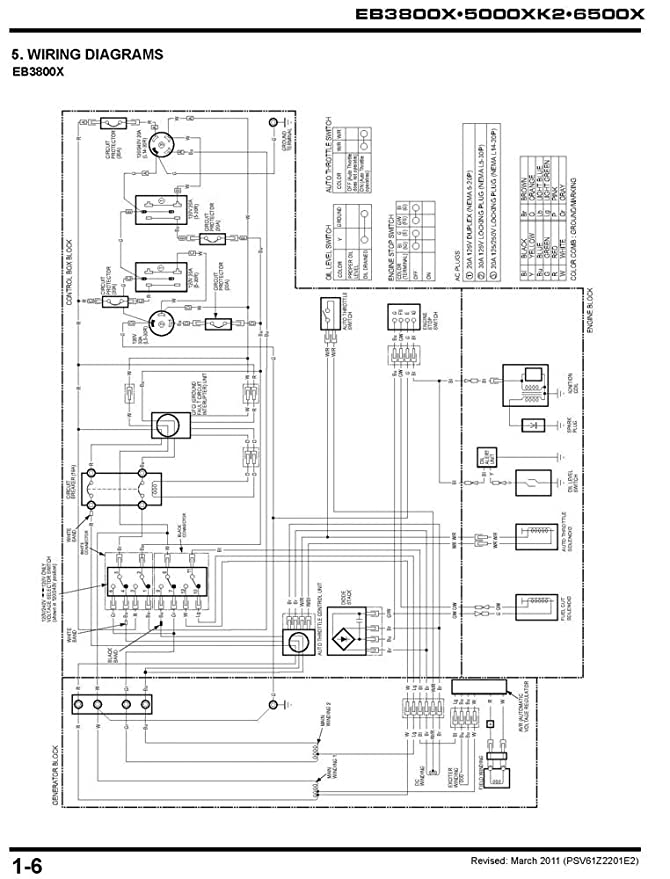 amazon com honda eb3800 eb5000 eb6500 generator service repair rh amazon com Nuetral Ground On a Honda EB5000X Honda EB5000X Carburetor