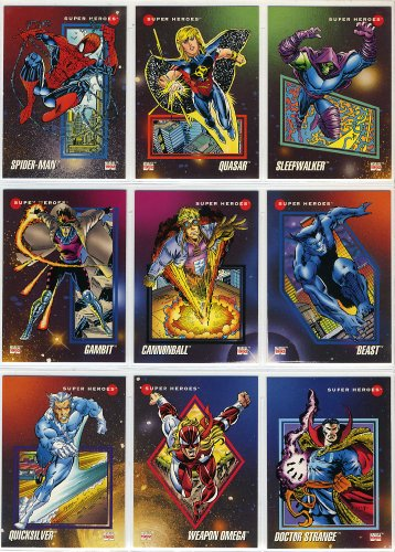 1992 Impel Marvel Universe Series-III 200-Card New Complete Base Set in Collector Pages