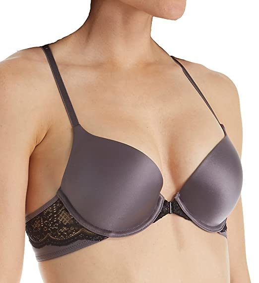 94265efb3a3bd Self Expressions Custom Lift T-Back Front Close Bra (SE6574) at Amazon  Women s Clothing store