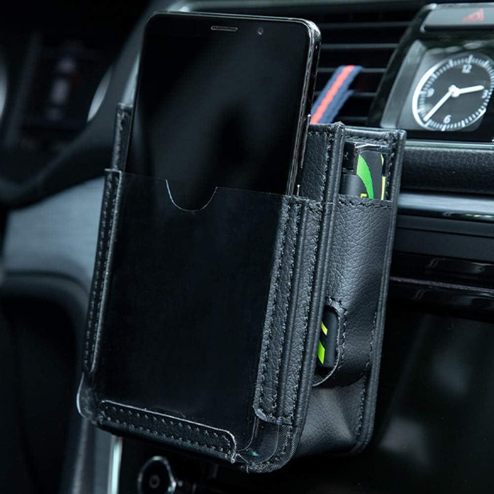 KAMLIKE Car Air Vent Storage Bag Multifunzionale Air Vent Auto Pocket Car Pocket Automotive Air Vent Cellulare Pouch archiviazione per i telefoni astuti Penne Monete Maps