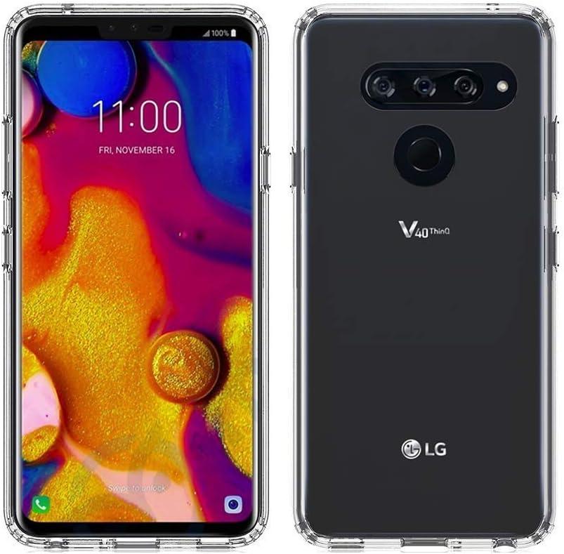 GEEMEE LG V40 ThinQ Funda, Espalda Transparente Ultra Slim Cáscara ...