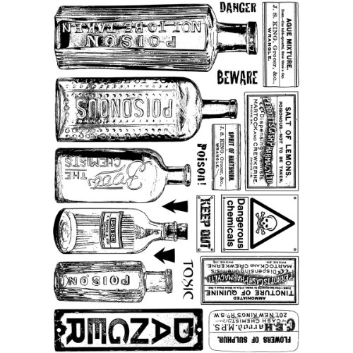 Crafty Individuals CI-360 Unmounted Rubber Stamp, Poison and Danger -