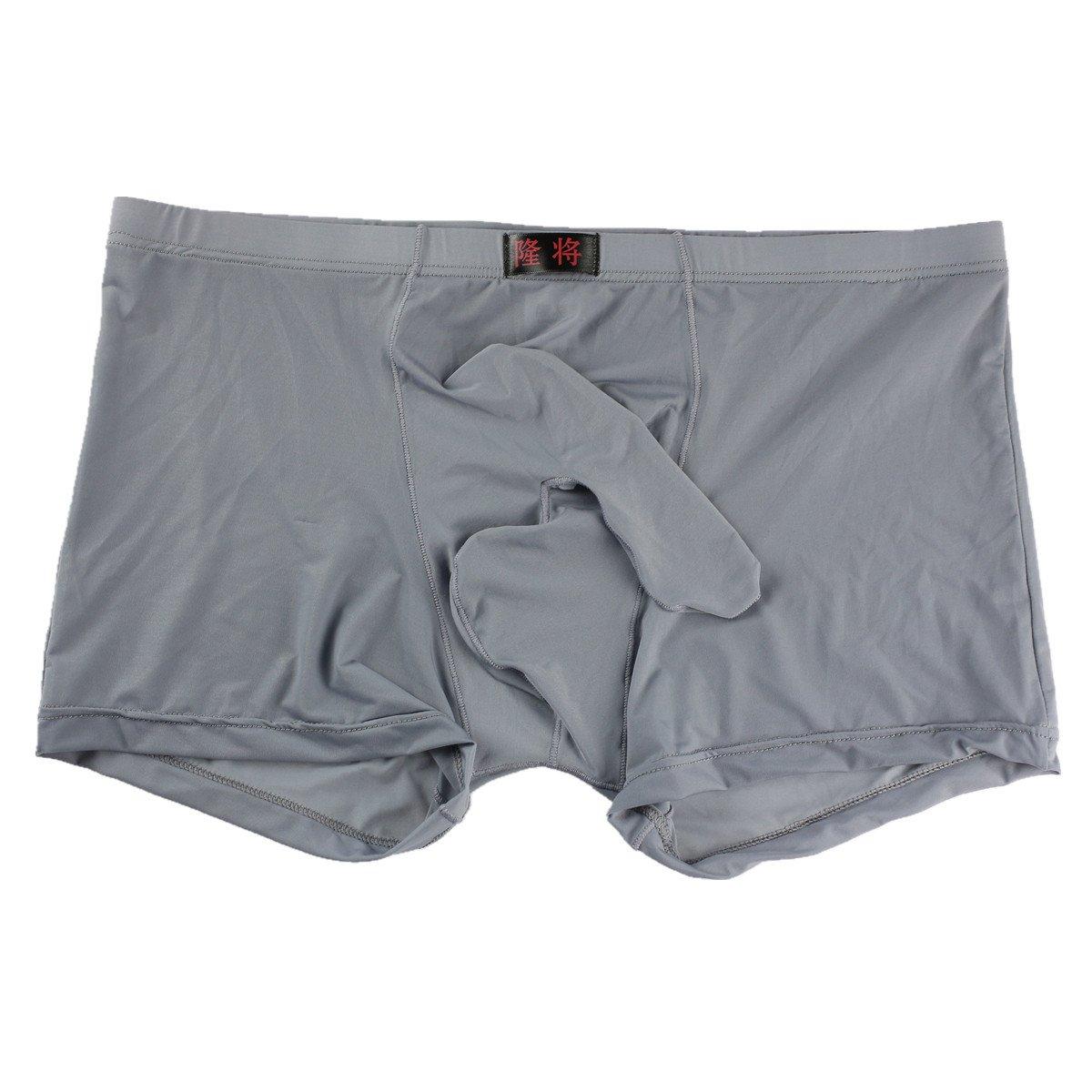 ALT Clearance 2017 Men 's Underwear Sexy Temptation Separation Ice Silk Translucent JJ Sets (Small, Grey)
