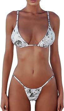 TAOttAO - Conjunto de Bikini para Mujer, diseño de Bandera de Brasil, Gris, X-Large: Amazon.es: Deportes y aire libre