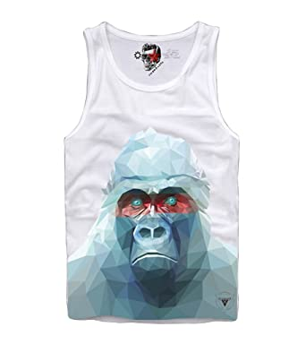 69f75723889471 E1SYNDICATE TANK TOP SHIRT GORILLA HIPSTER AFFE OBEY POLYGONAL HBA DJ   Amazon.co.uk  Clothing