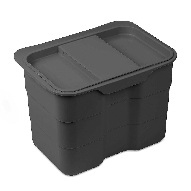SO-TECH/® PapeleraBiki Papelera de Basura Biol/ógica 4,2 litros Gris con Tapa Cubo de Basura Bote de Basura