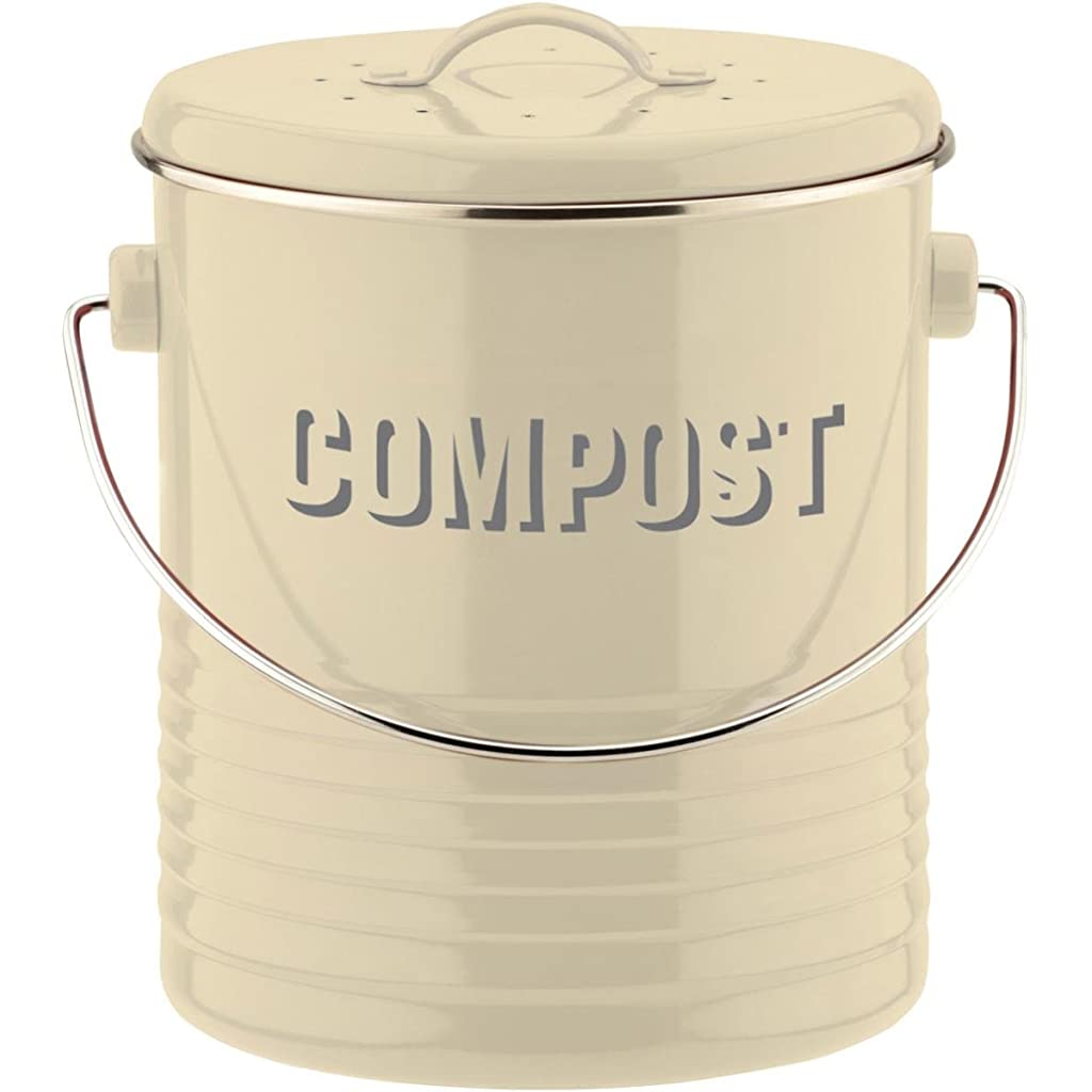 Typhoon Compost Caddy with Carbon Filter - Cream