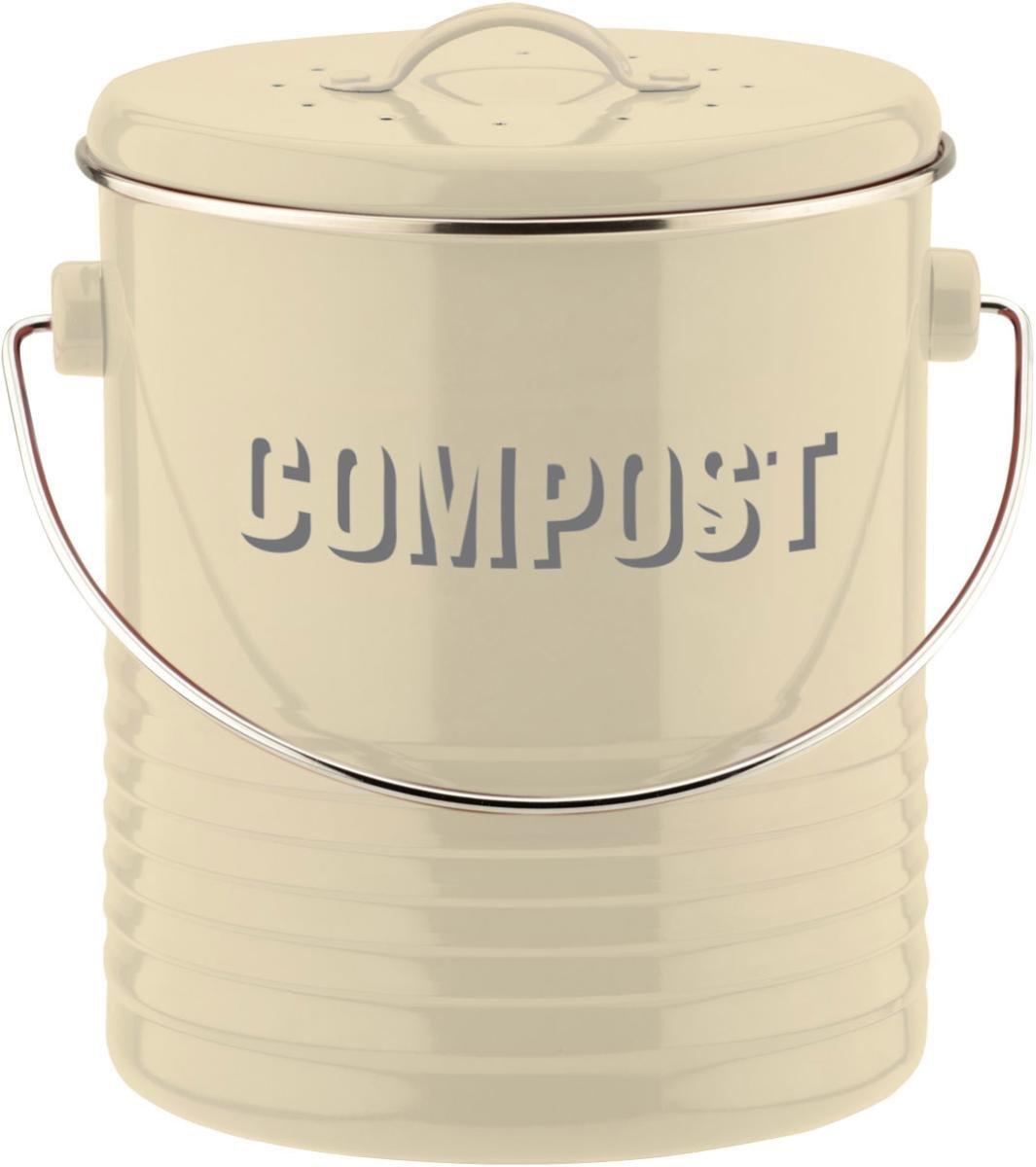 Typhoon Vintage Kitchen Compost Caddy, Cream: Amazon.co.uk: Kitchen ...