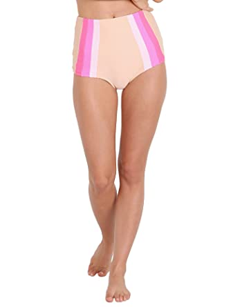 28f2c9e72357b Amazon.com: Lolli Swim Sky High Bikini Bottom Nude/Pink: Clothing