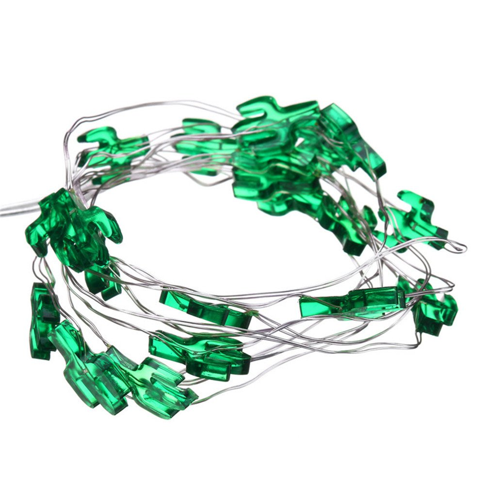 10 ft 30 Lights LED Copper Wire String Lights,Pine nuts /Sunflower/Green Cactus/Pink Rabbit Shape Fairy Lights Decoration Festival Party Home Public Place Deco Light Battery Operate (Green Cactus) by Plymist (Image #6)