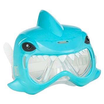COLORBABY - Mascara para natación Aqua Kidz con diseño de tiburón, Color Azul (53794