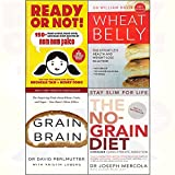 Ready or not [hardcover],wheat belly,no-grain diet,grain brain 4 books collection set