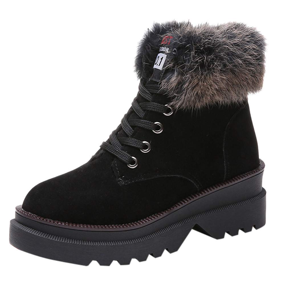 88a48e5c1461 Amazon.com  Baiggooswt Women s Winter Boots Cold Weather Insulated Flannel  Plaid Lace up Waterproof Snow Fur Duck Shoes  Clothing