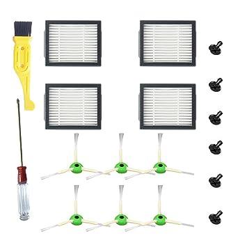 Replacement Part Filter Brush Kit For iRobot Roomba i7+//i7 Plus E5 E6 E7 Vacuum