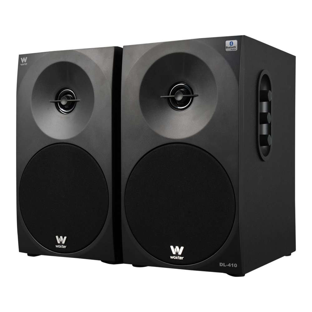 Woxter Dynamic Line DL-410 BT - Altavoces estéreo 2.0 (150 W de potencia, bluetooth, madera, woofer de 4