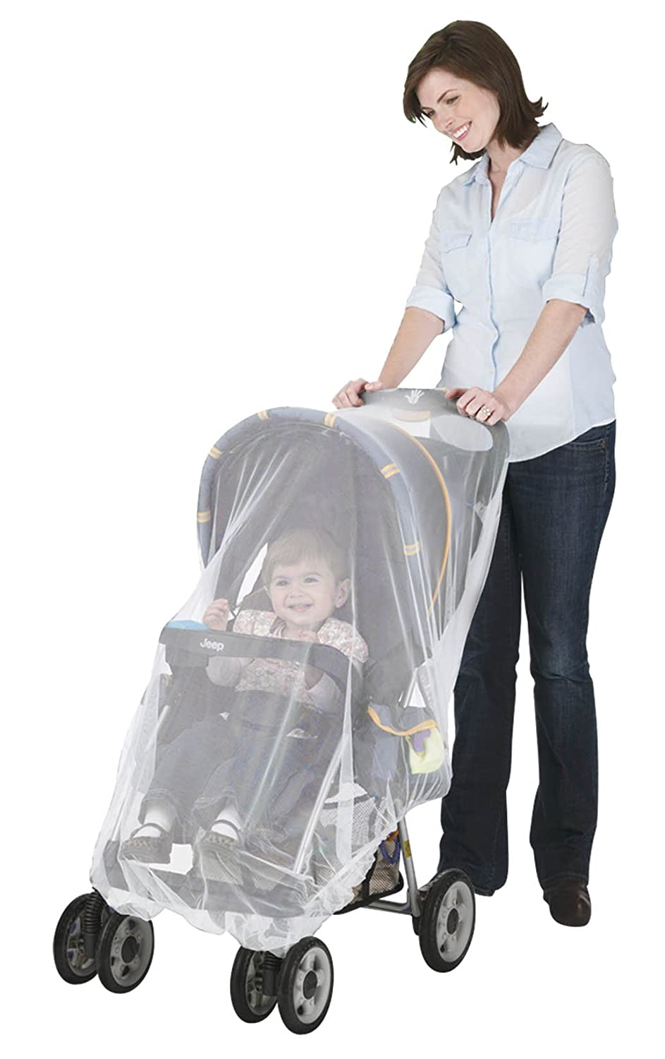 J is for Jeep Mosquito Net for Strollers, Mosquito Net for Car Seat and Infant Carrier, Universal Size, Bug Cover, Weather Protection, White HIS Juveniles 90105R