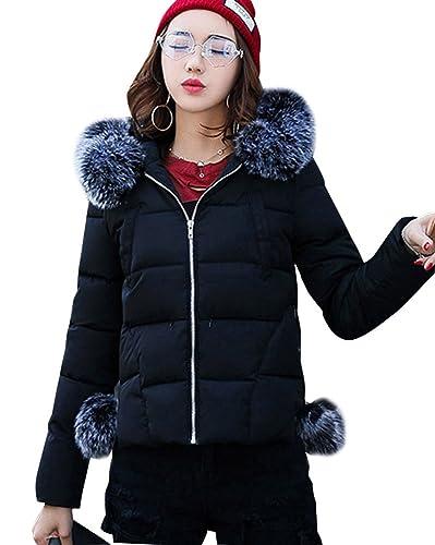 Mujer Slim Fit Cazadoras De Invierno Abrigos Corto Grueso Acolchado Chaquetas