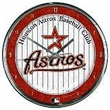 WinCraft MLB Houston Astros Chrome Clock