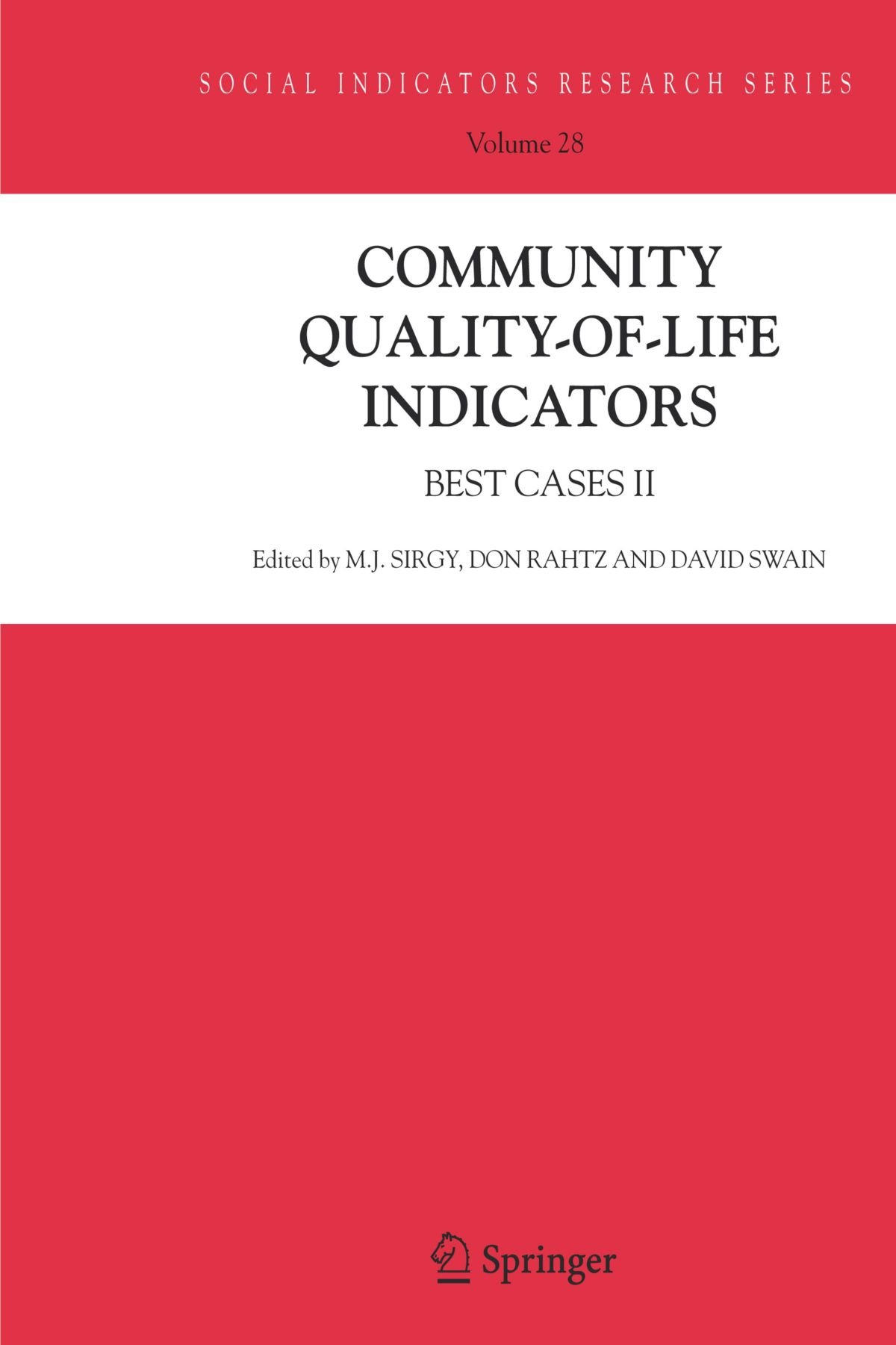 Community Quality-of-Life Indicators: Best Cases II (Social Indicators Research Series)