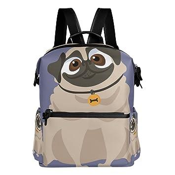 Bennigiry Cute Pug Dog School Backpack Functional Travel Backpacks ...