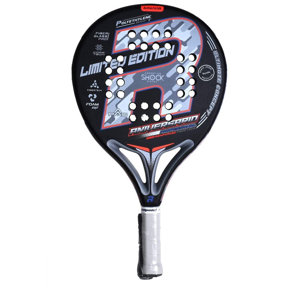 Royal Padel Pala DE PÁDEL RP Aniversario LTD Black: Amazon.es ...