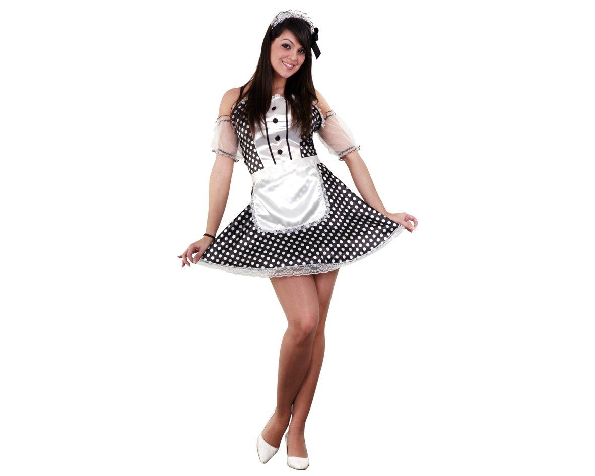 Disfraz de Sirvienta Sexy para mujer talla M-L: Amazon.es ...
