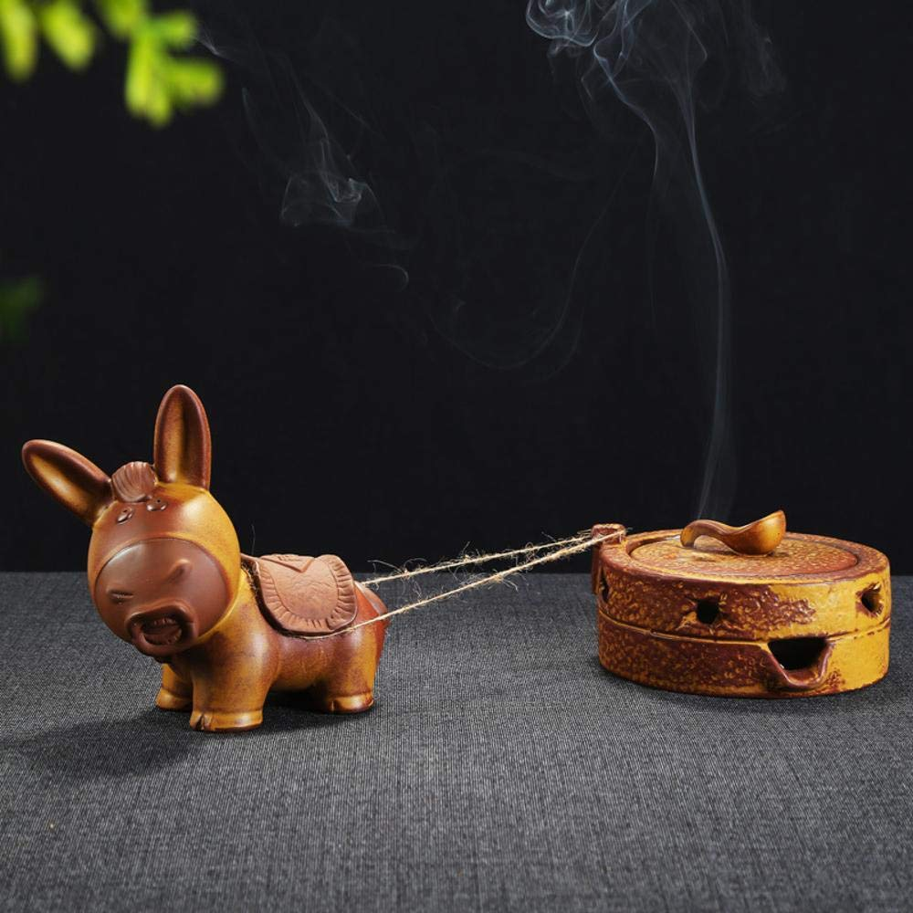 Ludage Home Accessories Crafts, Ceramic Animal Back Incense Burner Ornaments Home Decoration