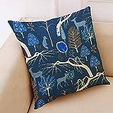 Aoesila Cotton Linen Square Home Decorative Throw Pillow Case Sofa Waist Cushion Cover18 x 18 Inch,43cm44cm