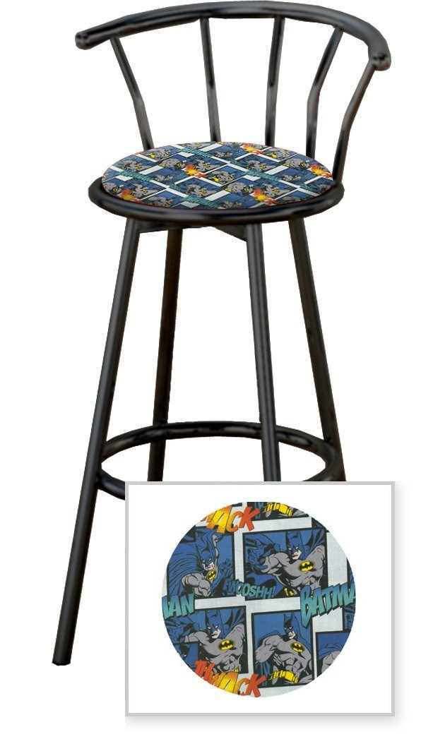 Swell Amazon Com New Batman Themed Fabric Swivel Seat Bar Stools Gamerscity Chair Design For Home Gamerscityorg