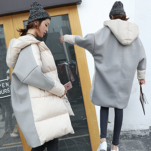 Xuanku Cotton In The Long Section Of The Winter Stitching Thicken Loose Jacket Suit Jacket Cotton Winter apricot