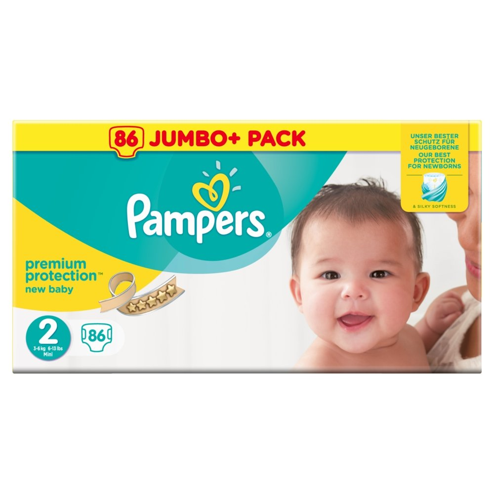 Pampers Premium Protection Size 3, 5 kg-9 kg, 80 Nappies PRXKD null
