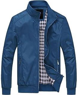 GRMO-Men Casual Lightweight Bomber Jacket Windbreaker Sport Zip Outerwear
