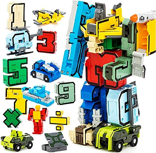 Spj  Educational Toys Transformers Number Combined Robots Join Numbers And Calculations Set For Kids