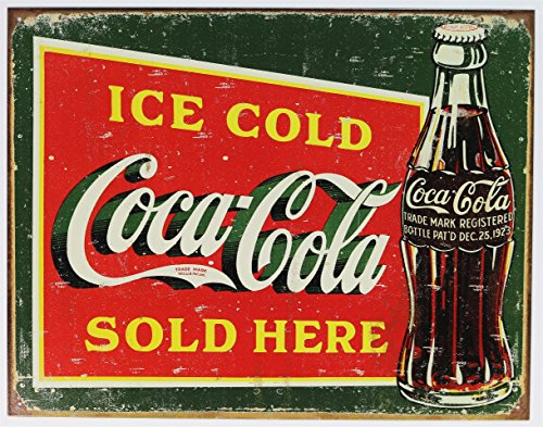(Coke – Ice Cold Green Tin Sign 16 x)