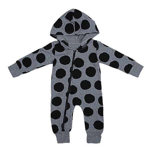 b08628e24c70 Amazon.com  chinatera Baby Boys Girls Fall Winter Clothes Polka Dots ...