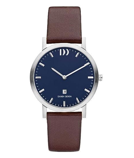 Danish Design iq22q1196 Horloge Heren - Bruin - edelstaal: Amazon.es: Relojes