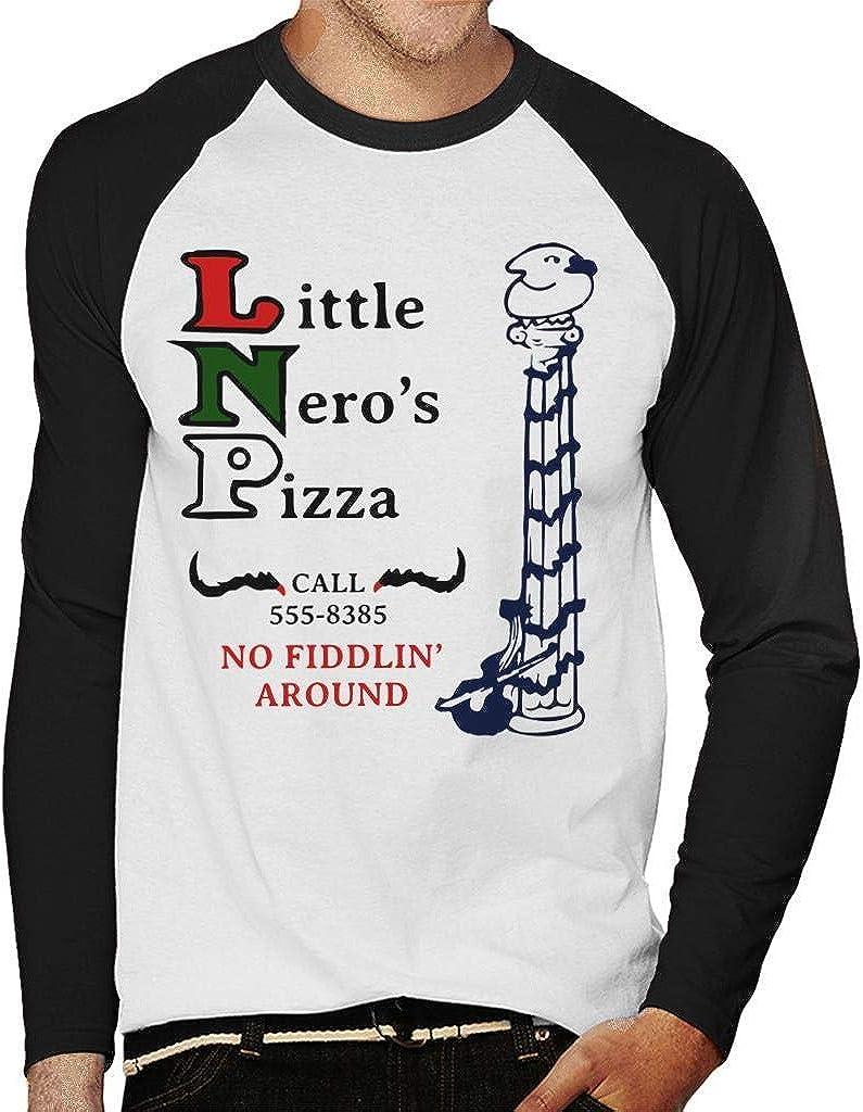 Little Neros Pizza Home Alone Men's Baseball Long Sleeved T-Shirt