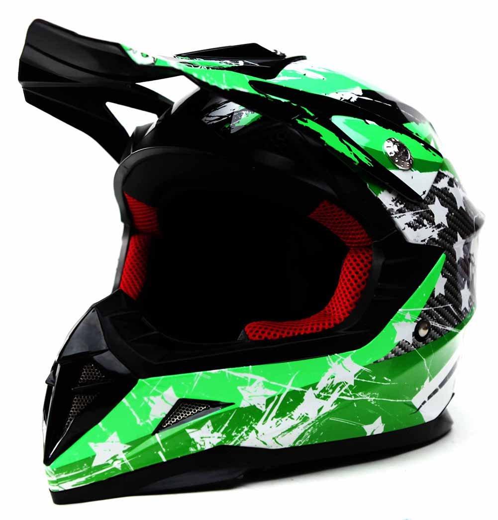 Casco Moto Bambino Motocross Integrale S YEMA YM-211 Caschi Bambini Motard Cross Integrali Downhill DH ECE Omologato Ragazza Ragazzo