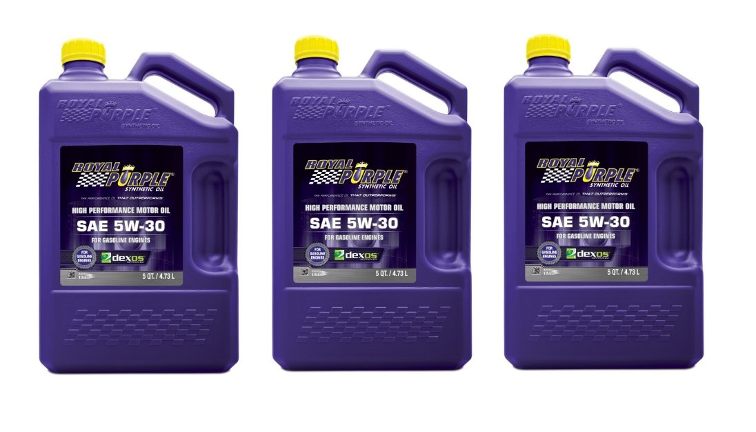 ROYAL PURPLE 51530 5w30 Multi-Grade SAE Oil 3x5qt Bottles