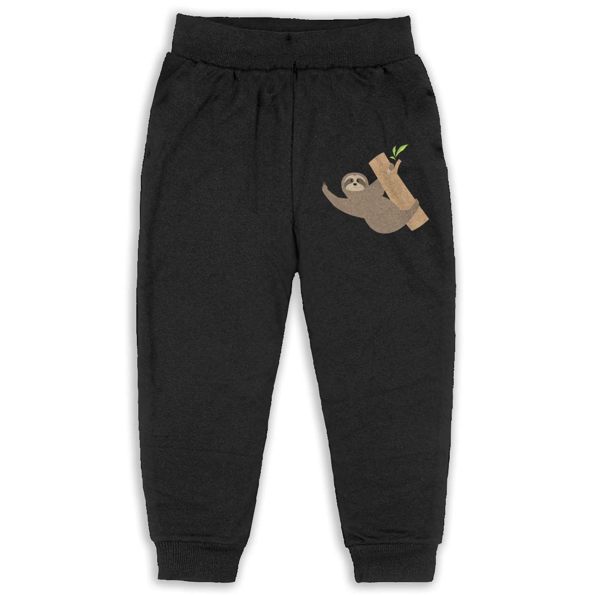 Uyikuvt Sweatpants Sloth Pattern Cotton Toddler Active Jogger Full-Length Regular Size Pants Kids