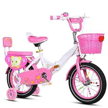 ZCRFY Bicicleta Plegable Ajustable Niños Niñas 2-13 Años Bebé Estudiantes Bicicletas Infantiles con Asiento