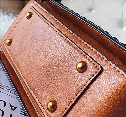 Nuovo Selvaggio Bag Partito Strass Pu Singolo A4 Moda Quadrato Borse Spalla g0xzwTC