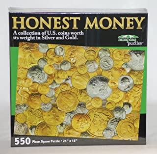 product image for Honest Money Coins Collage Puzzle (550pc) Rainy Day